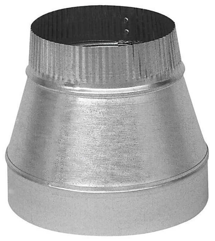 Imperial  5 in. Dia. x 4 in. Dia. Galvanized Steel  Furnace Pipe Reducer
