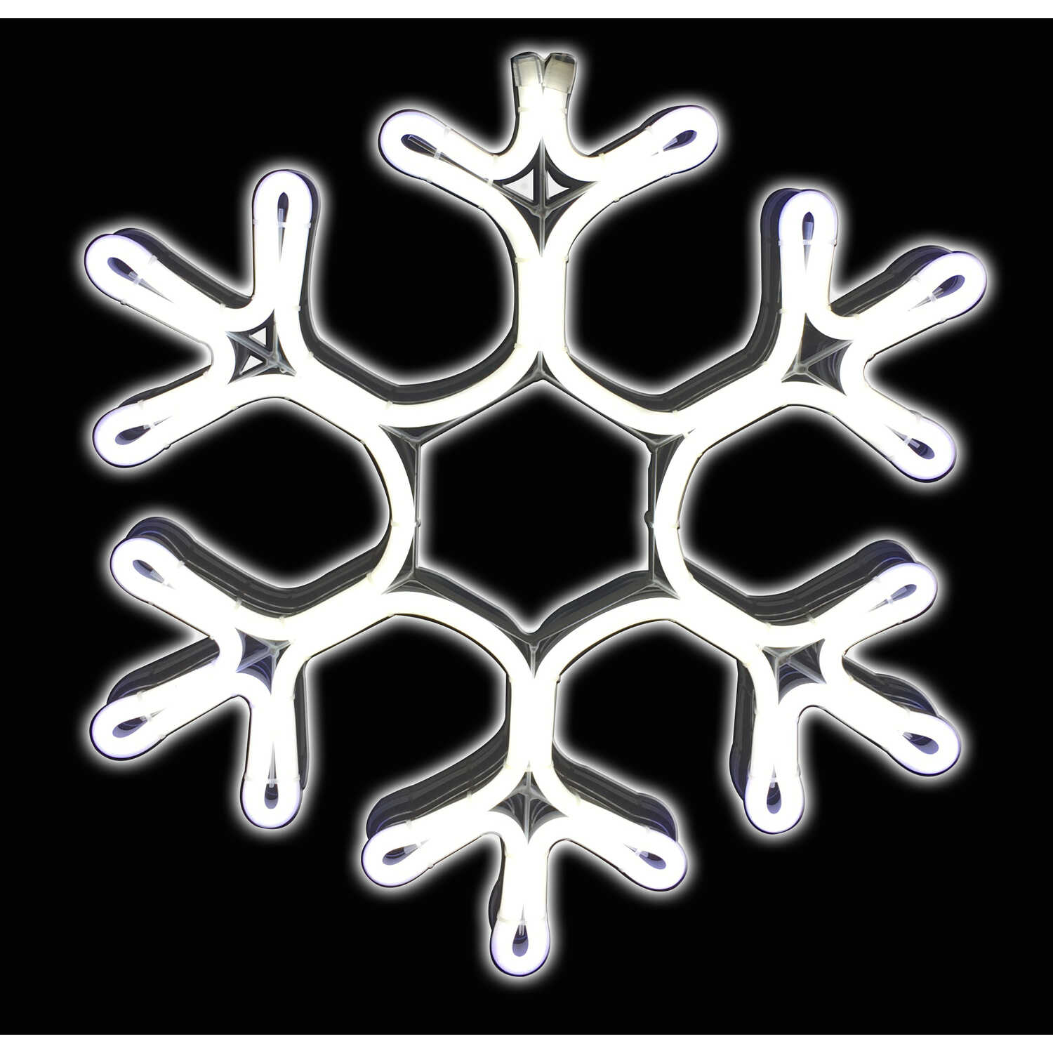 Sienna  Neon LED Snowflake  Christmas Decoration  Metal  White  1 pk