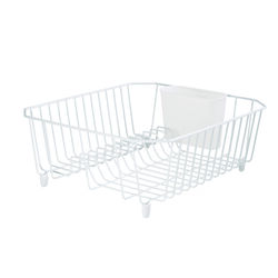 Rubbermaid 14.3 in. L x 12.4 in. W x 5.3 in. H White Steel Dish Drainer