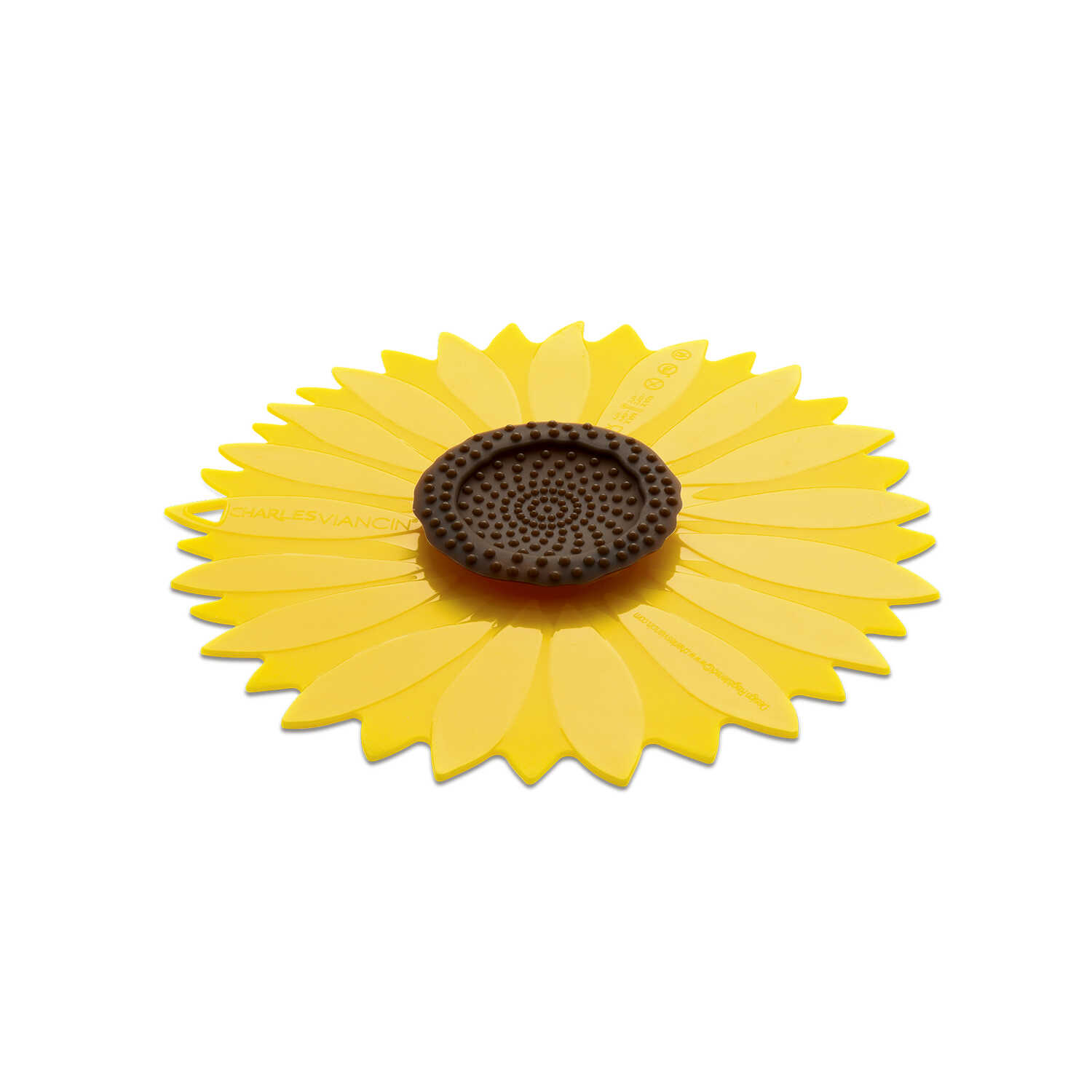 Charles Viancin  9 in. W x 9 in. L Yellow  Medium Sunflower Lid
