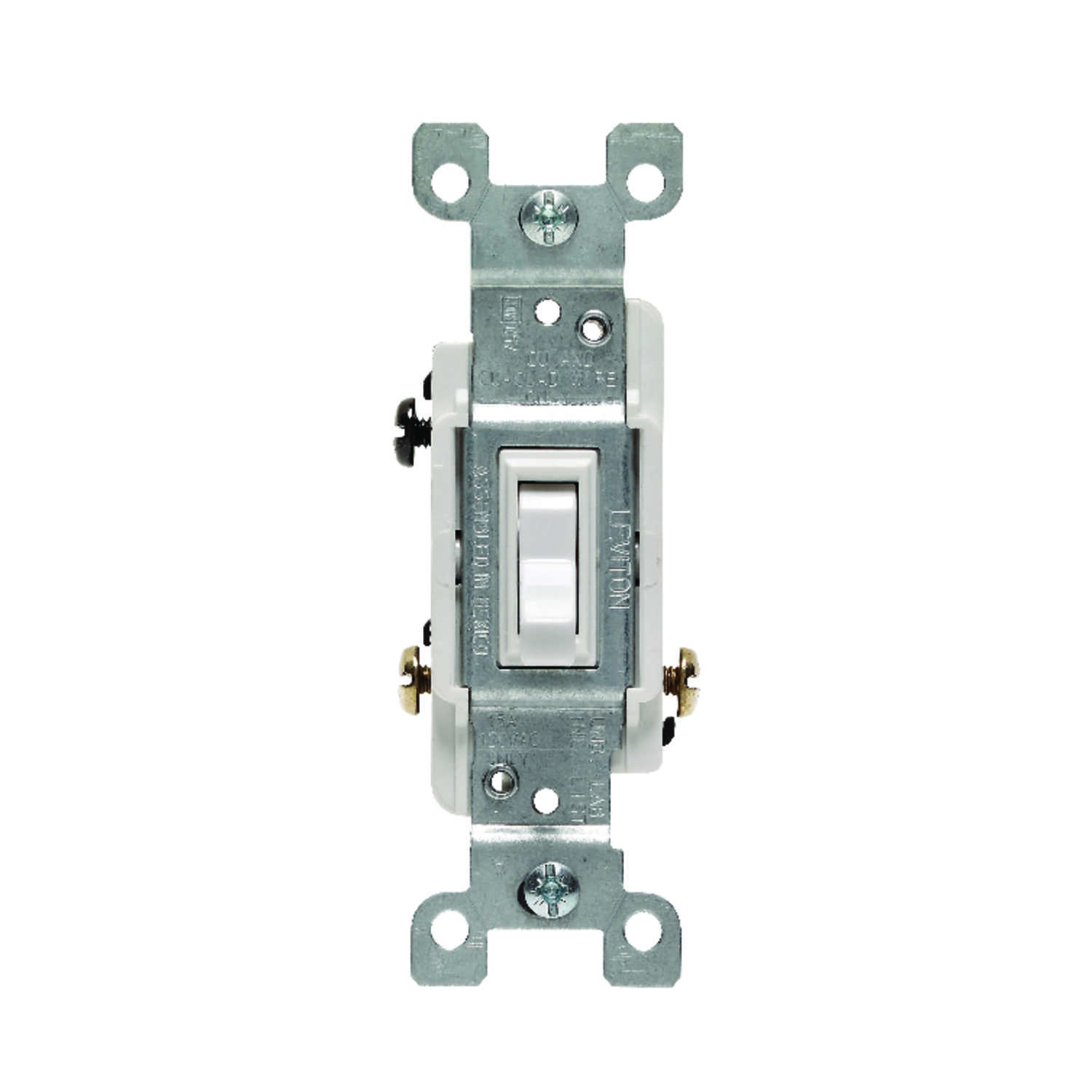 Leviton  CSA  15 amps Toggle  Switch  White  1 pk