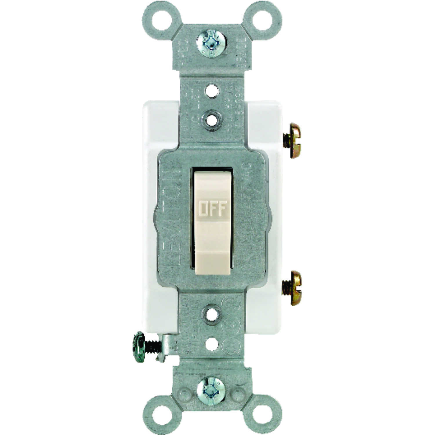 Leviton  Commercial  15 amps Single Pole  Toggle  Switch  Light Almond  1 pk
