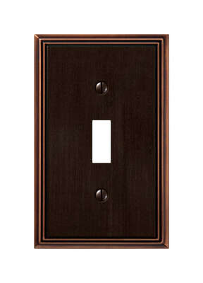 Amerelle  Metro  Aged Bronze  Bronze  1 gang Die-Cast Metal  Toggle  Wall Plate  1 pk