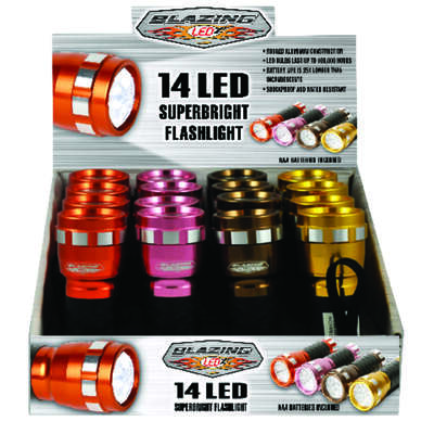Blazing LEDz  14 LED  85 lumens Assorted  LED  Flashlight  AAA Battery