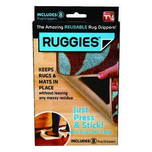 Ruggies  As Seen On TV  Rug Grippers  Polymer  8 each