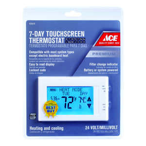 Lux  Heating and Cooling  Touch Screen  Programmable Thermostat