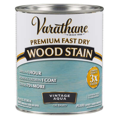 Varathane Semi-Transparent Vintage Aqua Oil-Based Urethane Modified Alkyd Wood Stain 1 qt.