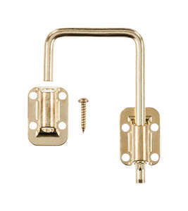 Ace Sliding Door Latch 1-1/2 in. Bright Brass Securing Metal or Wood Sliding Doors