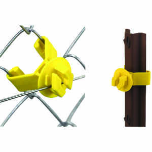 Dare Products  Chain Link Fence Insulator  Yellow