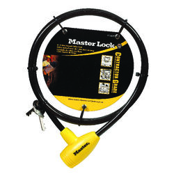 Master Lock 3/8 in. W x 6 ft. L Vinyl Covered Steel Pin Tumbler Locking Cable 1 pk