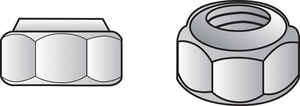 HILLMAN  1/4   Zinc-Plated  Steel  SAE  Nylon Lock Nut  100 pk