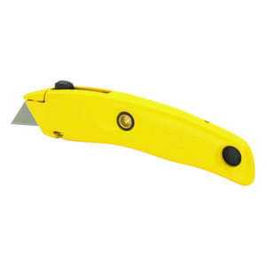 Stanley  Swivel-Lock  7 in. Yellow  Utility Knife  Retractable  1 pc.