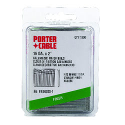 Porter Cable  2 in. 16 Ga. Straight Strip  Finish Nails  Smooth Shank  1,000 pk