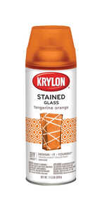 Krylon  Stained Glass  Spray Paint  11.5 oz. Tangerine Orange