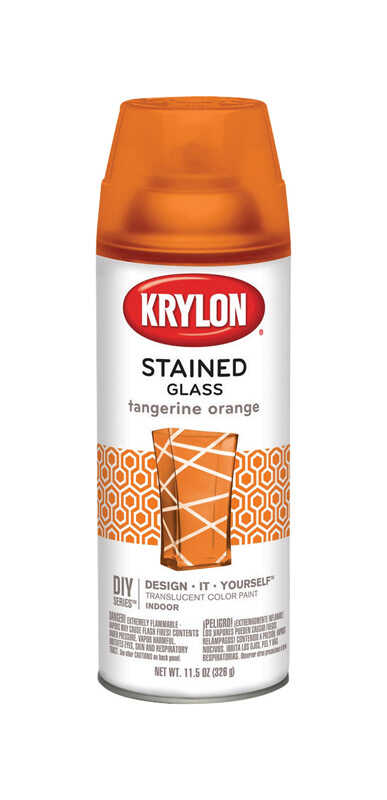 Krylon  Stained Glass  Translucent  Spray Paint  11.5 oz. Tangerine Orange