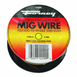 Forney  0.024 in. Mild Steel  MIG Welding Wire  70000 psi 2 lb.