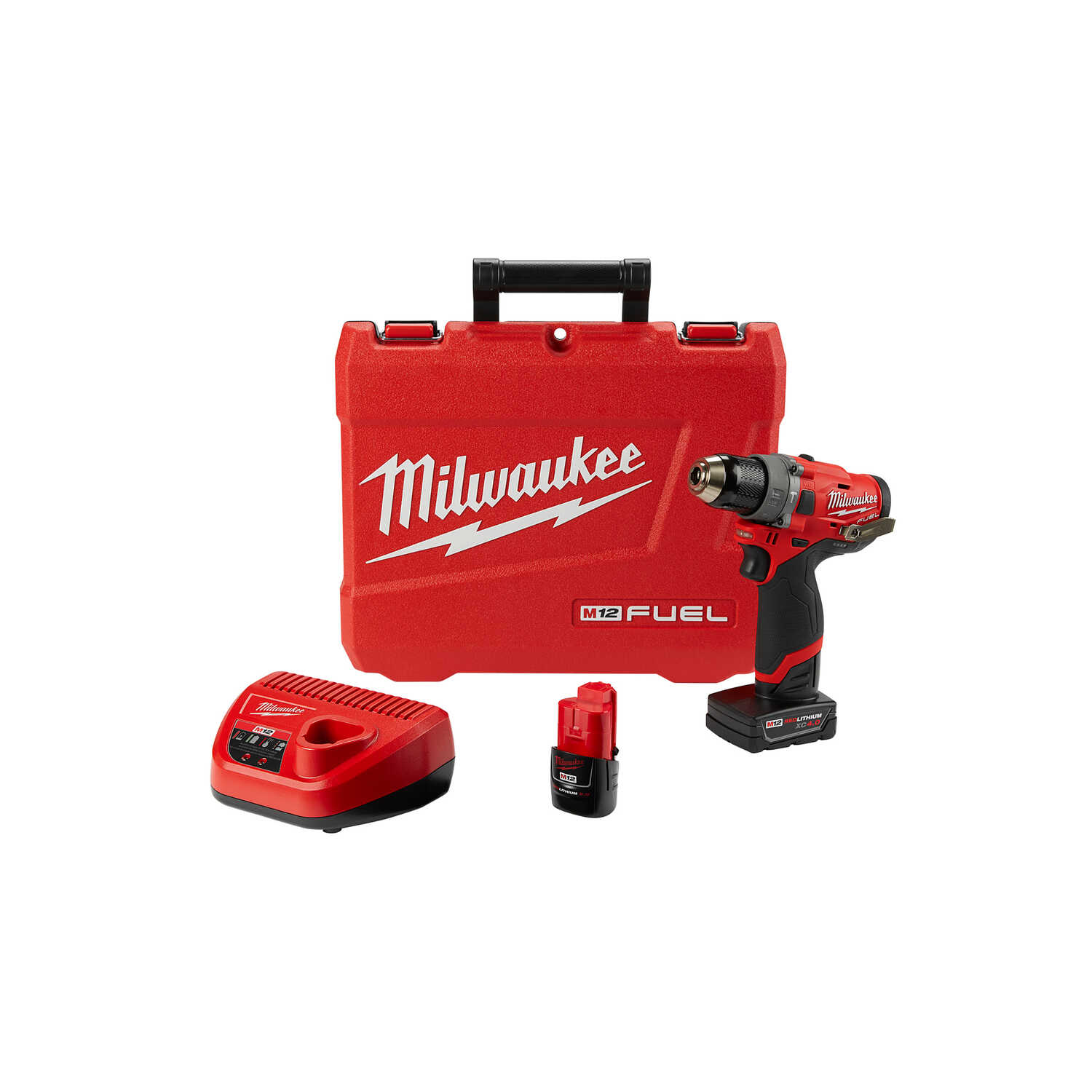 Milwaukee  M12 FUEL  12 volt 1/2 in. Brushless Cordless Hammer Drill/Driver  Kit 25,500 bpm 1700 rpm