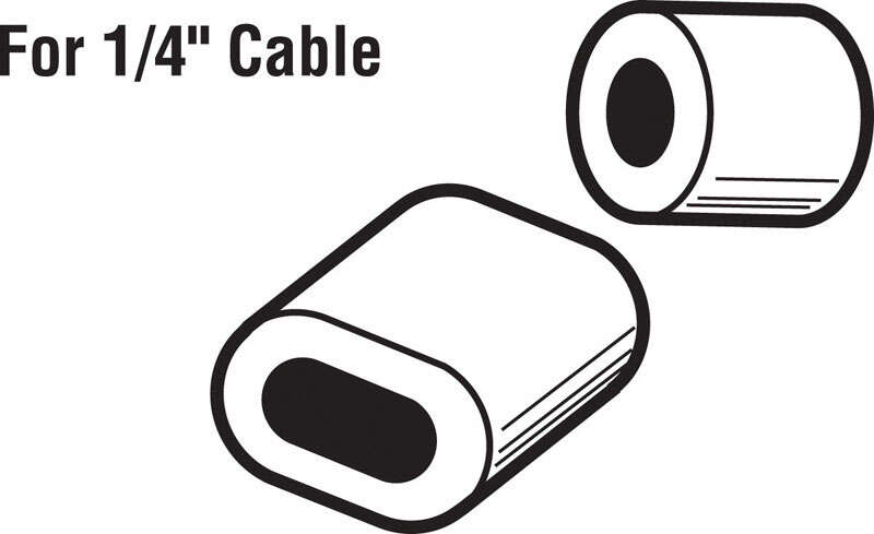 Prime-Line  1/4 in. Dia. Aluminum  Cable Ferrules and Stops