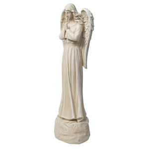 Infinity  Cement  White  26.38 in. Angel  Statue