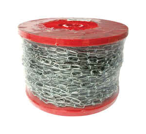 Baron  3  Double Loop  Steel  Chain  0.08 in. Dia. x 200 ft. L