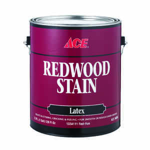 Ace  Semi-Transparent  Flat  Redwood  Water-Based  Latex  Stain  1 gal.