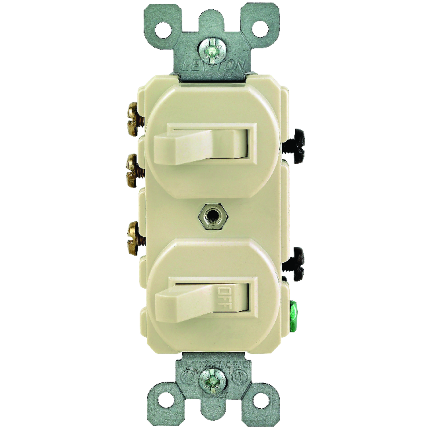 Leviton  15 amps Ivory  1 pk Combination  Switch