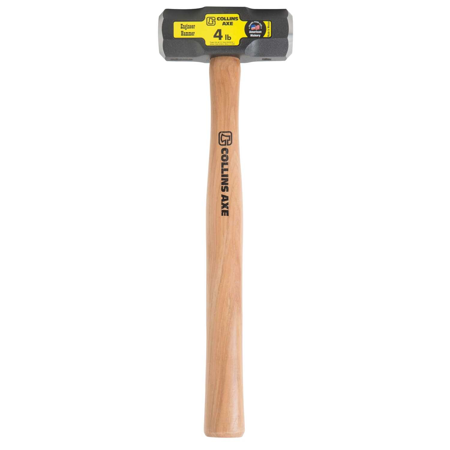 Collins  4 lb. Forged High Carbon Steel Head Milled Face  Engineer Hammer  16 in. L x 1.8 in. Dia.
