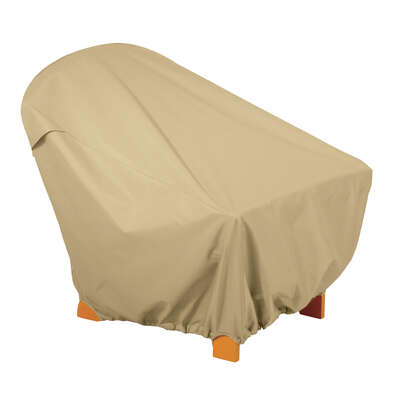Classic Accessories 36 in. H x 31.5 in. W x 33.5 in. L Brown Polyester Chair Cover