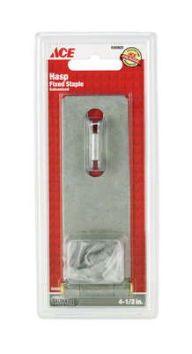 Ace  Galvanized  Steel  4-1/2 in. L Fixed Staple Safety Hasp