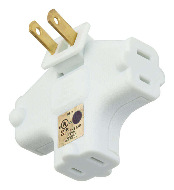 Ace  Polarized  3  Surge Protection Swivel Outlet Adapter  1 pk