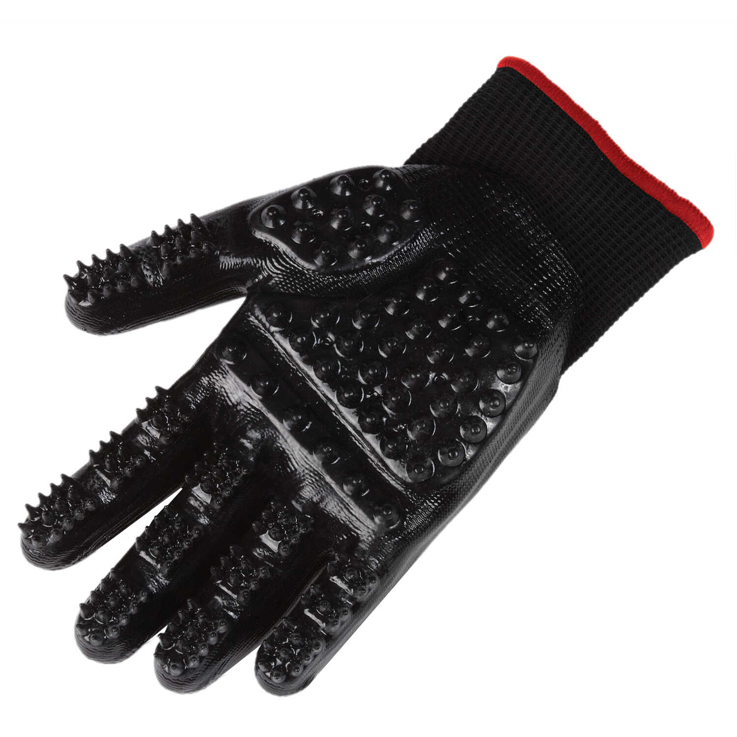 Top Performance  Shed Patrol  For Cat/Dog Black  Grooming Mitt  1 pair