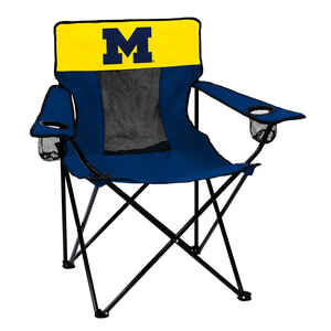 Logo Brands  Elite  1 position  Blue/Gold  Bag  Collegiate Team Canvas Chair  University of Michigan