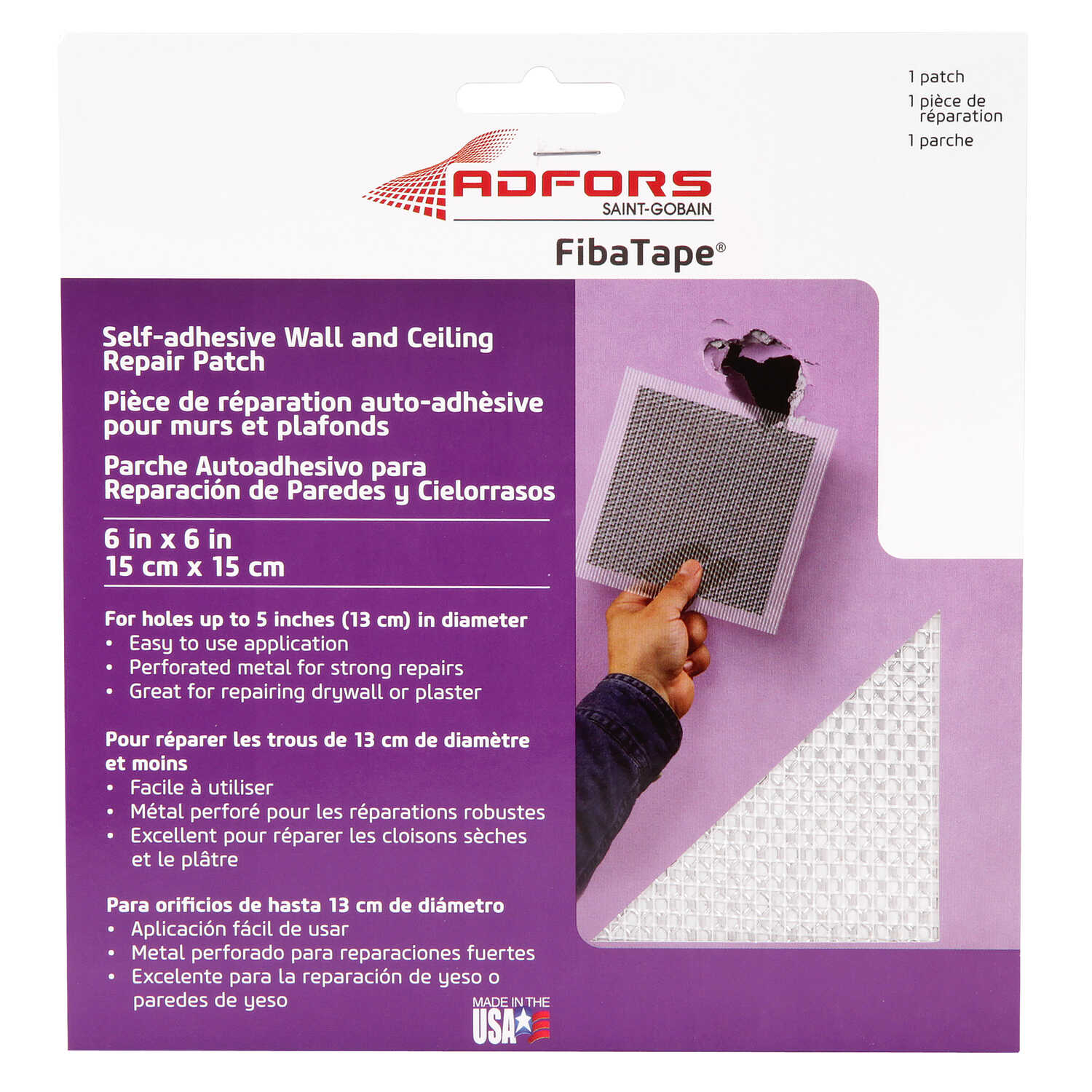 Saint-Gobain ADFORS  Fibatape  0 ft. L x 6 in. W Fiberglass Mesh  White  Wall Repair Patch  Self Adh