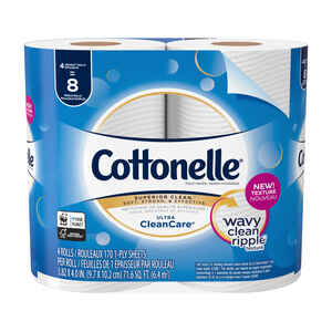 Cottonelle  Clean Care  Toilet Paper  4 roll 190 sheet