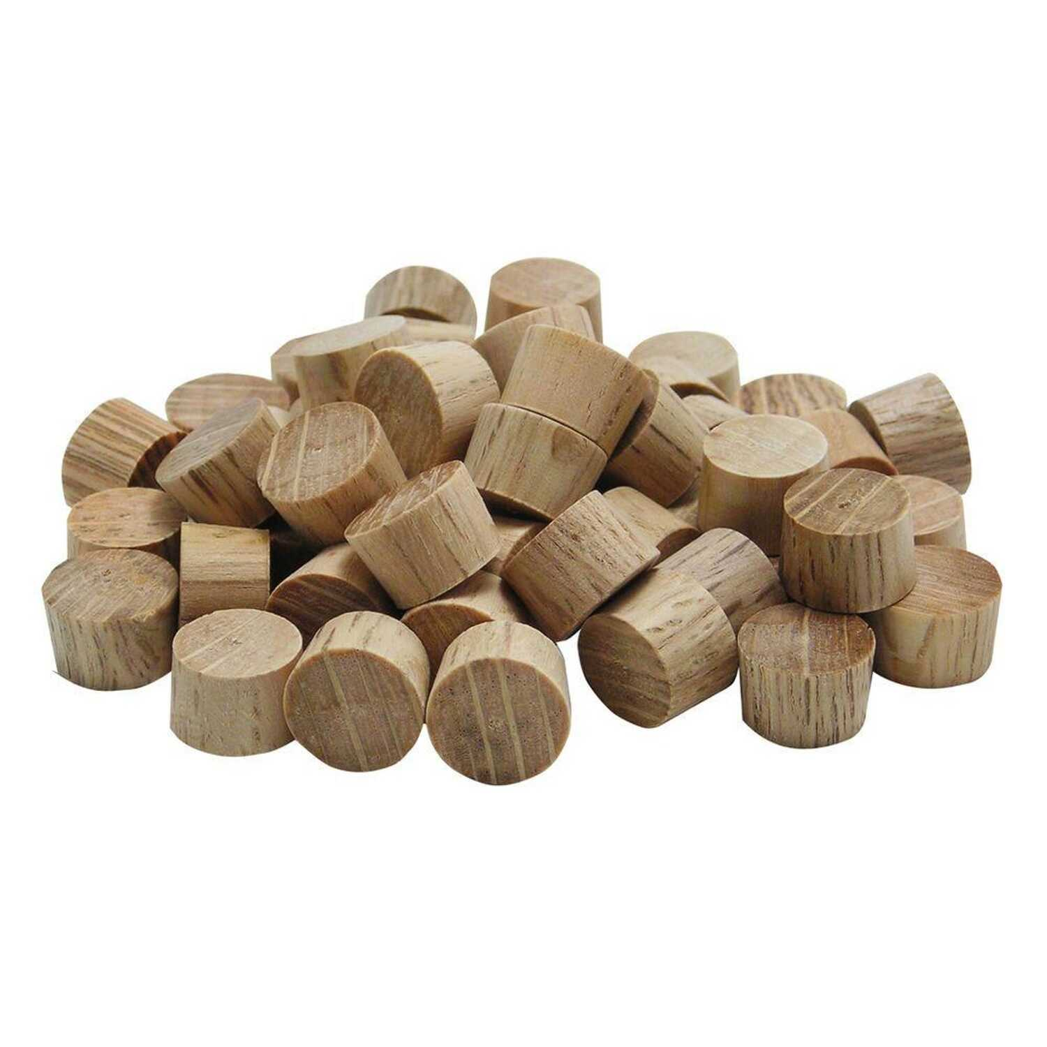 Wolfcraft  Flat  Oak  Head Plug  3/8 in. Dia. x 1/4 in. L 1 pk Natural