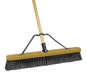 Quickie  Job Site  Rough Surface Push Broom  24 in. W x 60 in. L Polypropylene