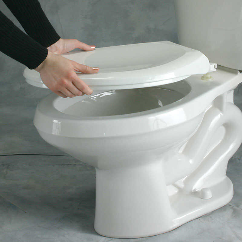 Mayfair  Elongated  White  Vinyl  Cushioned Toilet Seat