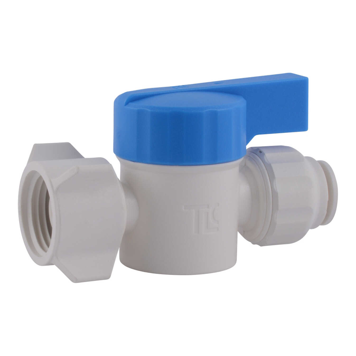 SharkBite  Quick Connect  3/8 in. OD   x 1/2 in. Dia. FNPT  Plastic  Straight Stop Valve