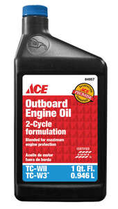 Ace  TC-W3  2 Cycle Engine  Engine Oil  1 qt.