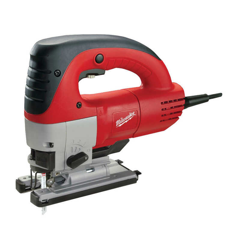 Milwaukee  1 in. Corded  Keyless D-Handle  Orbital Jig Saw  120 volt 6.5 amps 3000 spm