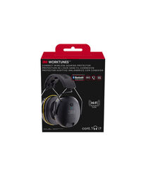 3M  WorkTunes  24 dB Hearing Protector Earmuff  Gray  1 pair