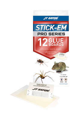 JT Eaton Stick-Em Pro Series Glue Board For Insects, Mice and Spiders 12 pk