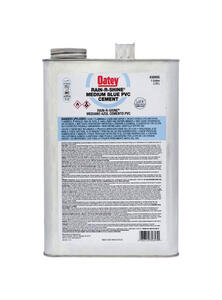 Oatey  Rain-R-Shine  Blue  Cement  For PVC 1 gal.