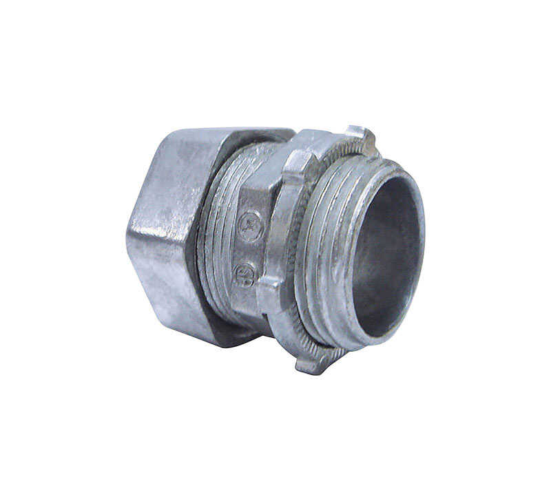 Sigma  3/4 in. Dia. Zinc  Compression Connector  For EMT 25 pk