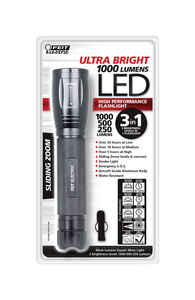 FEIT Electric  Ultra Bright  1000 lumens Black  LED  Flashlight  D Battery