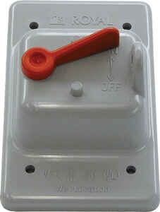 Cantex  Rectangle  PVC  1 gang Electrical Cover  For Single Toggle Switch