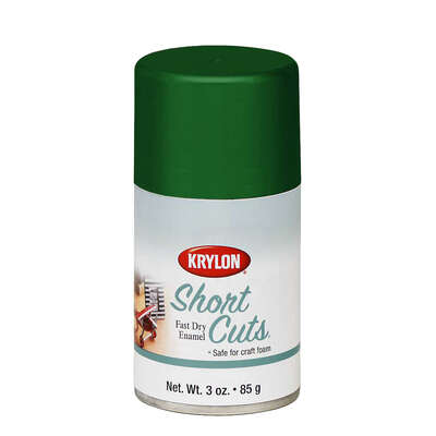 Krylon  Short Cuts  Gloss  Leaf Green  Spray Paint  3 oz.