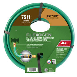 Ace 5/8 in. Dia. x 75 ft. L Premium Grade Green Hose