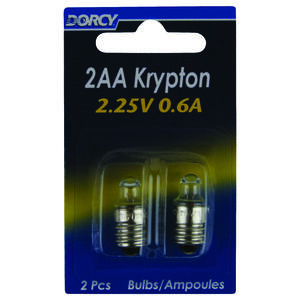 Dorcy  2AA  Krypton  Flashlight Bulb  6 volt Screw Base