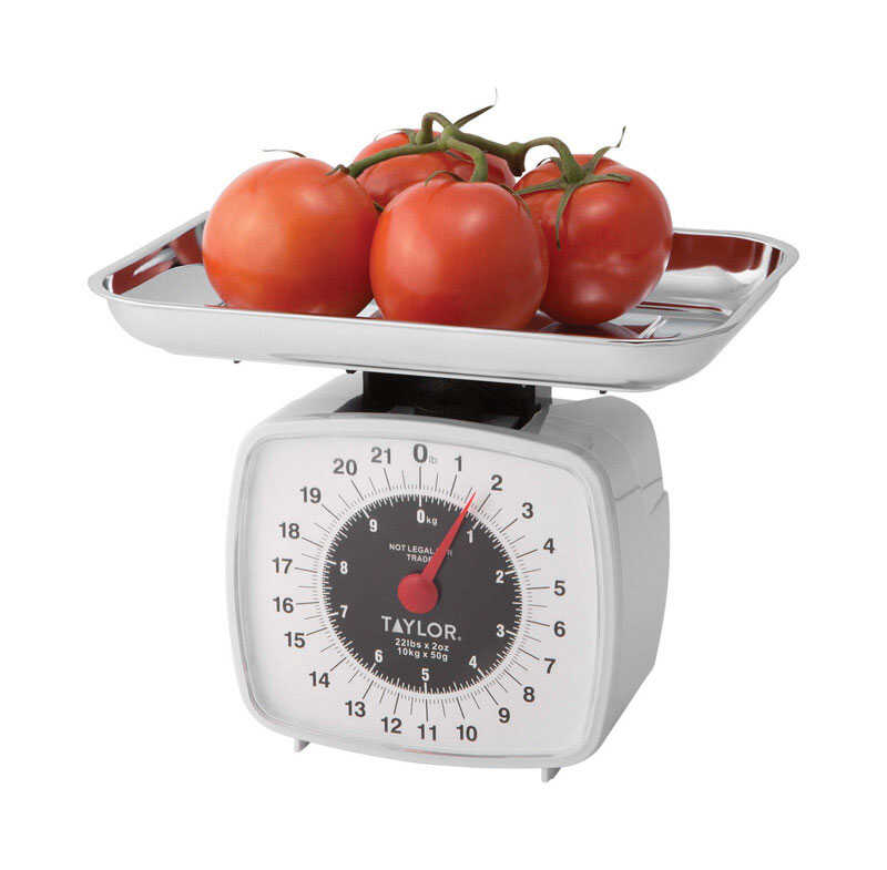 Taylor White Kitchen Scale Analog 22 Weight Capacity Ace